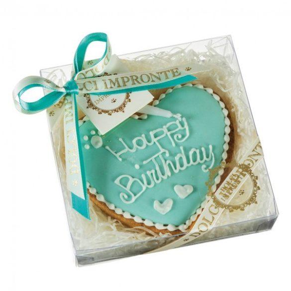 Szülinapi torta - szívecske kék
