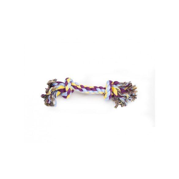 Camon fonott pamutköteles játék plusz, két csomós 21 cm