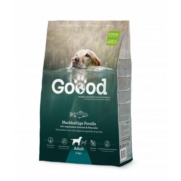 Goood szárazeledel felnőtt kutyáknak - fenntartható pisztrángból 3 féle kiszerelésben