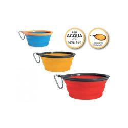 Összecsukható színes szilikon tál (víz) 350ml vagy 750ml
