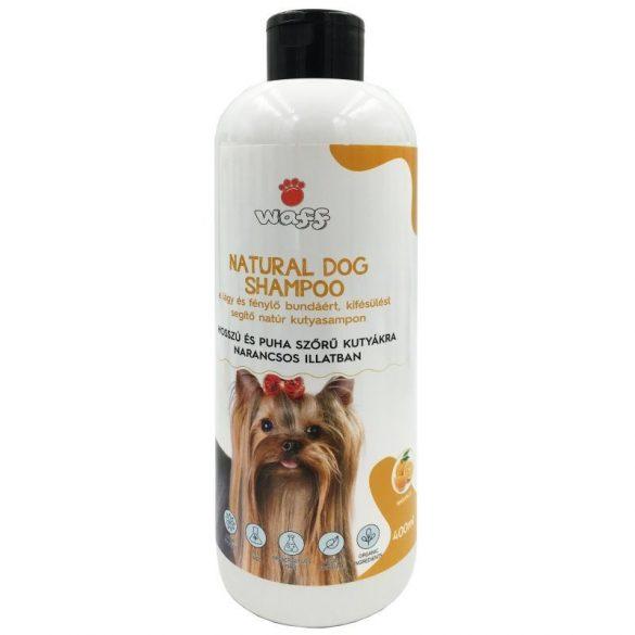 Waff natúr kutyasampon hosszú és puha szőrre – narancs