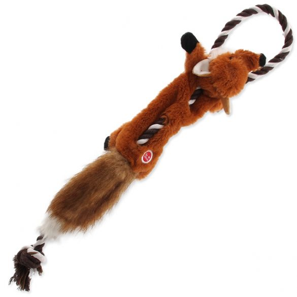 Plüss róka kötélen 35cm