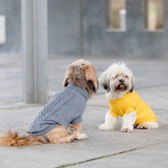Trixie Kenton kötött pulcsi sárga