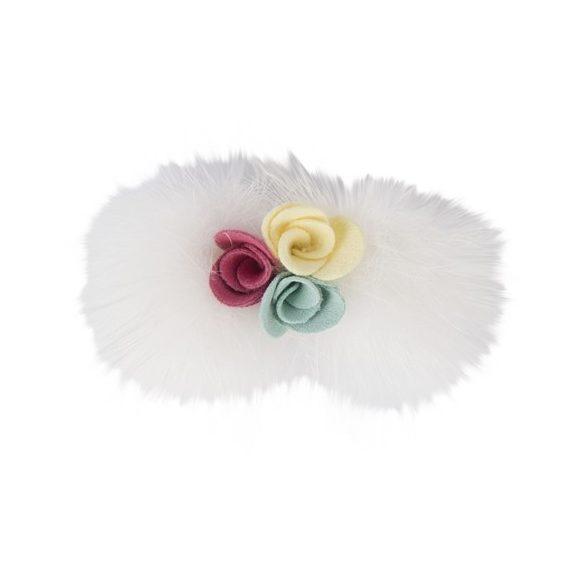 Pinkaholic fehér-virágos hajcsat
