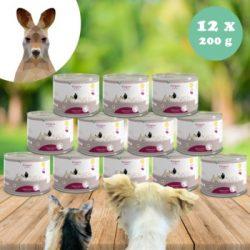 100% kenguruhús monoprotein kizárásos diétához kutyáknak és macskáknak 200 g