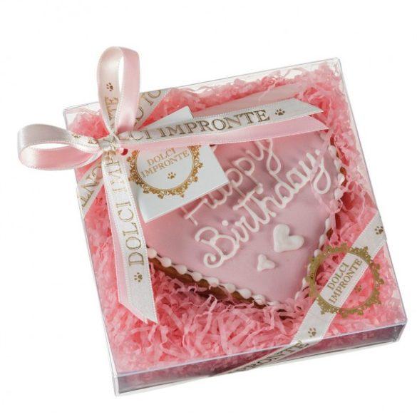 Szülinapi torta - szívecske rózsaszín