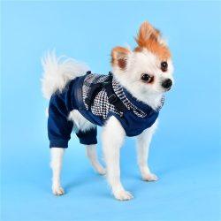 Puppia kezes-lábas hámmal kék szín, S méret, 25cm háthosszra
