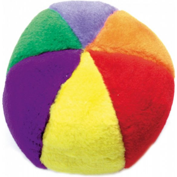 Sípolós színes plüss labda 14cm