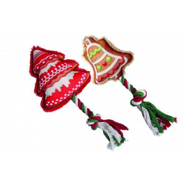 Karácsonyi játékok fonott kötéllel 9-10cm