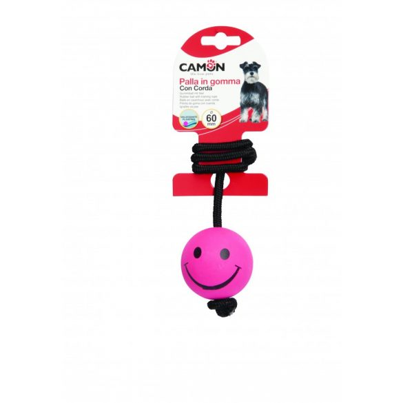 Zsinóros vízen lebegő játéklabda Smile átmérő 60 mm