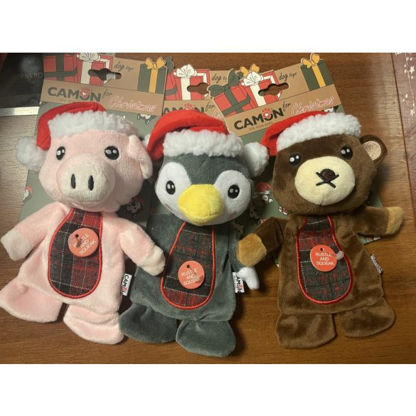 Zörgős karácsonyi mötyi állatkák 20cm