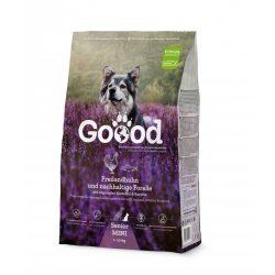 Goood szárazeledel mini senior (kistestű idős) kutyáknak  - szabadon tartott csirke és fenntartható pisztráng 2 féle kiszerelésben