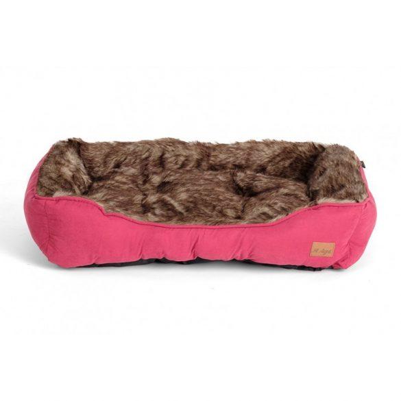 Agui Furry Bed burgundi 90x69x21