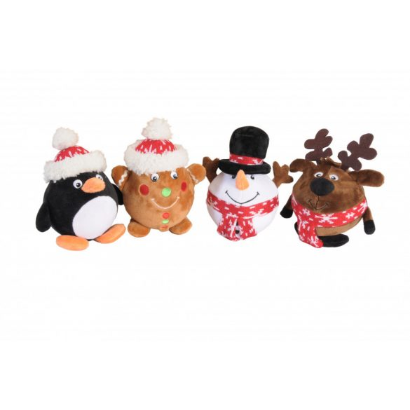 Labda testű sípolós karácsonyi plüssök