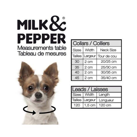Milk&Pepper leopárd mintás nyakörv