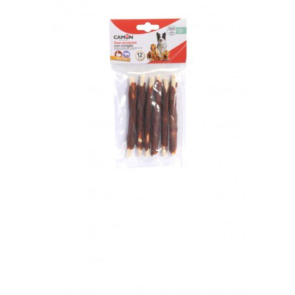 Szárított marhabőrre tekert nyulas snack 6 db 12 cm/zacskó