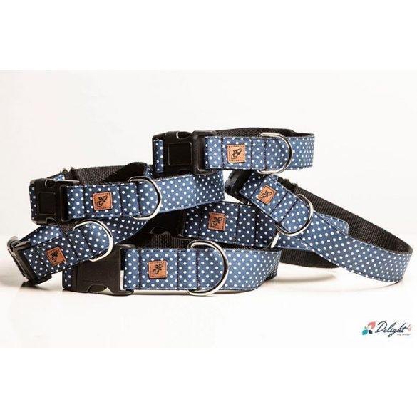 Delight's Dog Design kék pöttyös nyakörvek