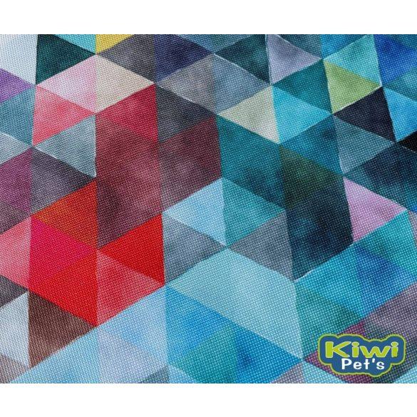 Kiwi Pet's LIMITÁLT nyári vízlepergetős fekhely kék geometriai mintával 2 méretben
